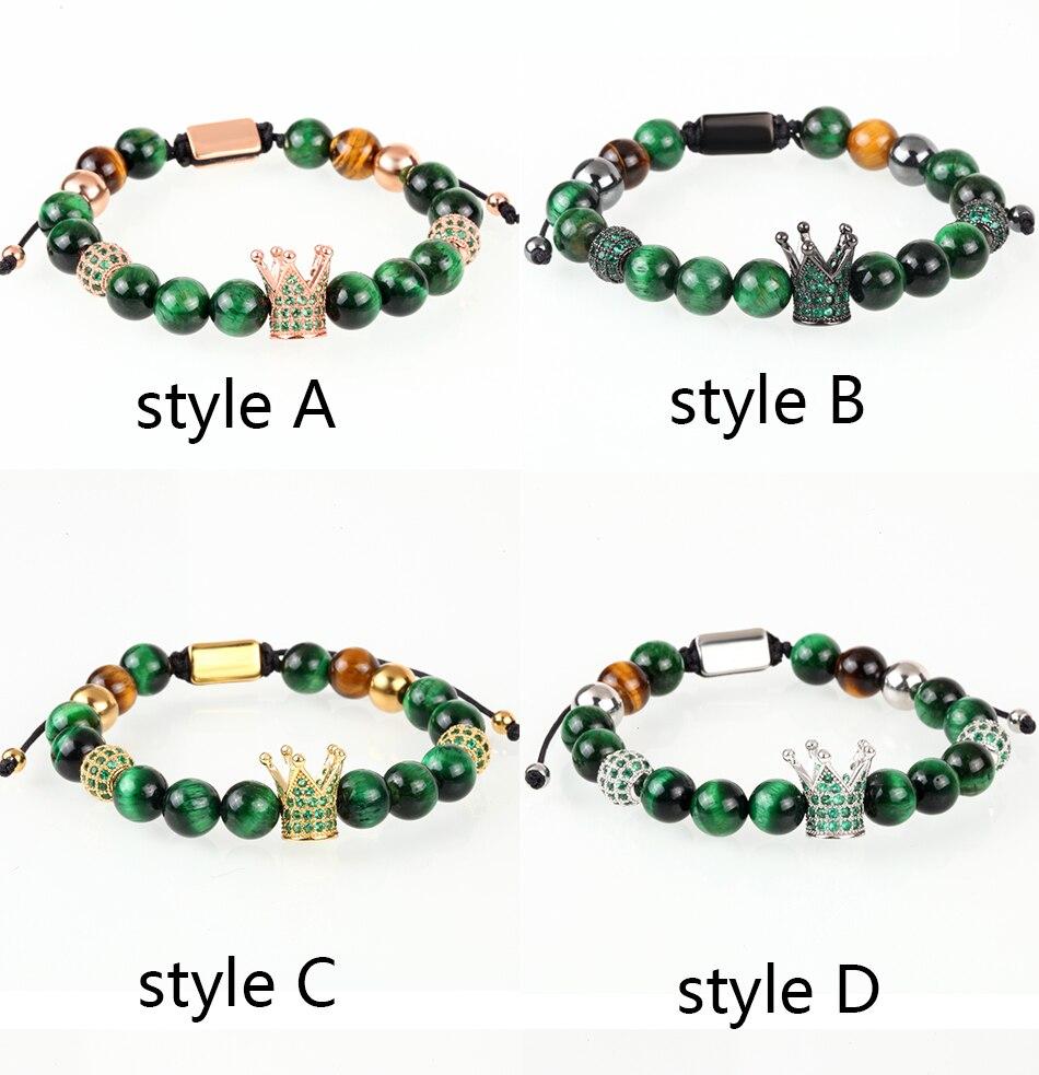 HTB1LWjLMIbpK1RjSZFyq6x_qFXaq Crown Ball Pave Setting Zircon Beads Braided Bracelet Bangle Jewelry