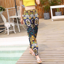 c165c5d310 2018 New Ethnic Style Bohemian Thailand Lantern Pants Beach Pants Female  Summer Cotton Silk Harem Pants