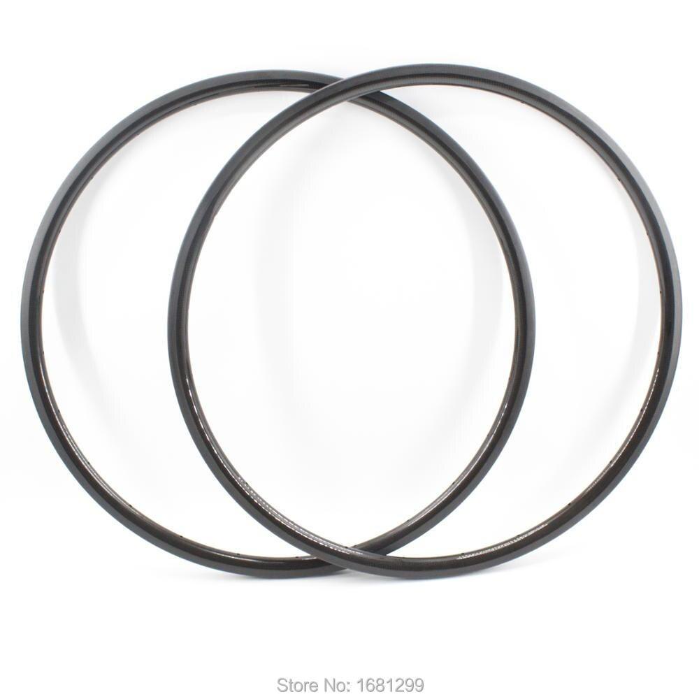 2 pièces nouveau plus léger 29er pouces pneu disque jantes vélo de montagne 3K UD 12K pleine fibre de carbone vélo roues jantes vtt livraison gratuite