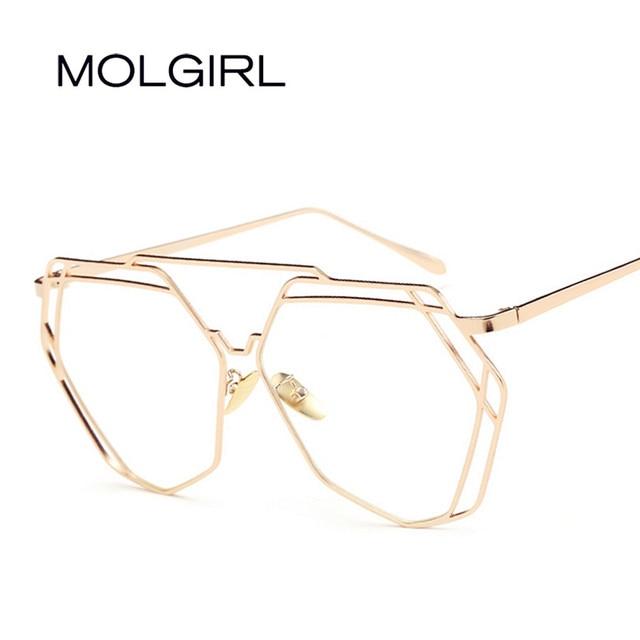 cb1364d5ef MOLGIRL Metal Frame Glasses New Fashion Men Women Optical Eyeglasses Clear  Glass Brand Transparent Glasses Women s Men s Frames
