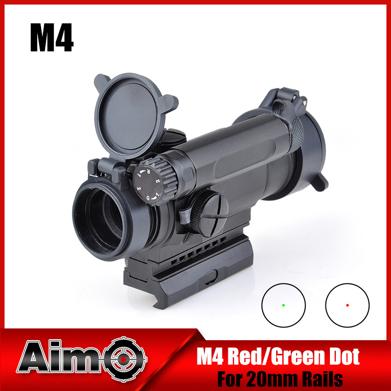 Aim-O Red Dot Sight Optics Scope Tactical M4 Riflescope For hunting shooting AO3032 tactical m4 1x40 red dot sight scope all aluminum alloy cnc hunting shooting r5565