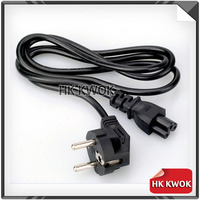 2017 10pcs 1.2M 3 Prong EU Power plug Laptop PC AC Power Cord Cable for HP Dell Samsung Acer Asus Toshiba EUROPEAN Power Cable