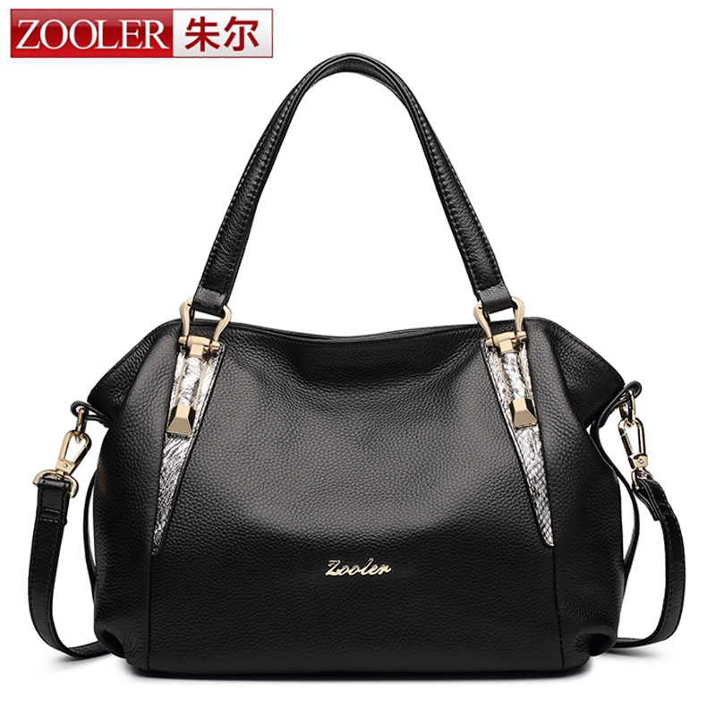 ZOOLER Genuine Leather Handbag Luxury Handbags Women Bags Designer Bolsa Feminina Sac a Main Bolsos Tote Borse 2017 Shoulder Bag