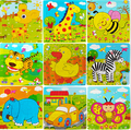 2016 NEW Wooden Kids Jigsaw Puzzles Toys With Animals Pattern For Children Education And Learning aged 1-2-3-4-5