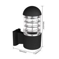 O abajur de vidro de alumínio impermeável conduziu a iluminação exterior da c.a. 85-240 v do soquete e27 dos dispositivos bondes de parede ip65 da lâmpada de parede sem lâmpada
