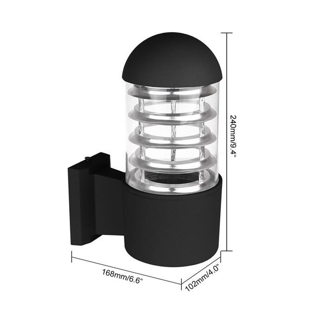 Waterproof aluminum glass lampshade led wall light fixtures ip65 waterproof aluminum glass lampshade led wall light fixtures ip65 wall lamp e27 socket ac 85 workwithnaturefo