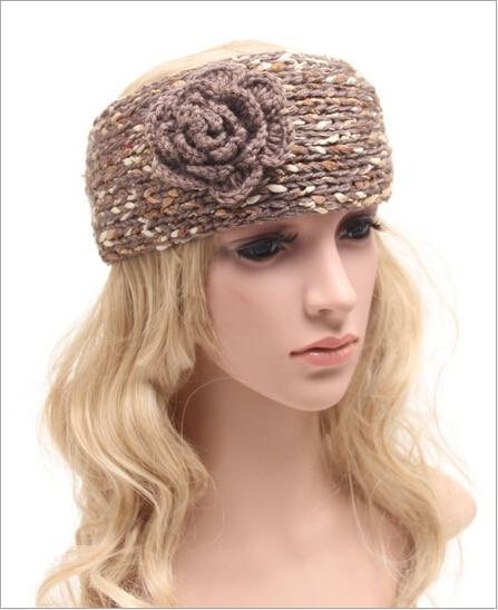 adult winter flower crochet knit headbands braided headband wool scrunchy  elastic headbands head hair band accessories for women-in Women s Hair  Accessories ... 38f342fbb4d