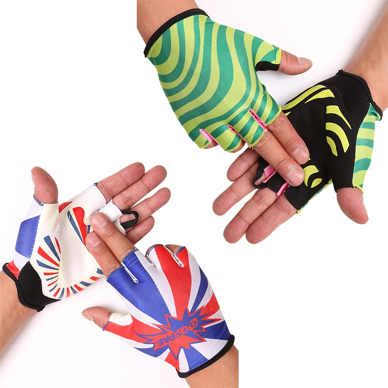 Men Women  Breathable Shock Absorption Half Fingers Riding Gloves Anti-slip Fitness Bicycle Sports Cycling Gloves
