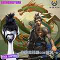 New Arrive Game Hanzo (need styled ) Cosplay Wig Costume Heat Resistant + Cap +Track Number 0001 Cosplay Wig + Free Wig Cap