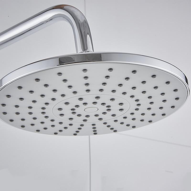 GEYO 3 modes ABS plastic Bathroom shower head big panel round Chrome rain head Water saver Classic design G1 2 rain showerhead in Shower Heads from Home Improvement