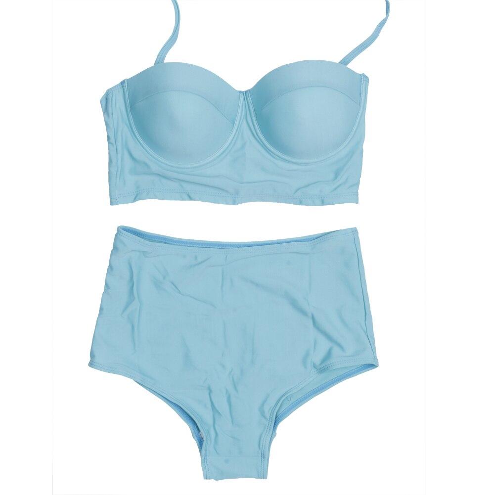Plus Size Womens Sexy Neon Bangae High Waist Bikini Bra Set Swimwear Swimsuit Swimwear Women 2017 New Arrival 1