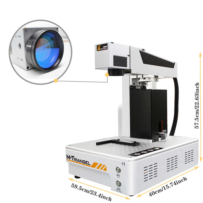 MTriangel 20 Вт волоконная лазерная гравировальная машина для iPhone X XS XSMAX 8 8P Задняя стеклянная ЖК-рамка Ремонт Лазерная разделительная машина