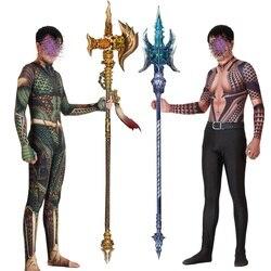 Aquamán juego de rol disfraz zentai Hurra Orin traje de superhéroe monos