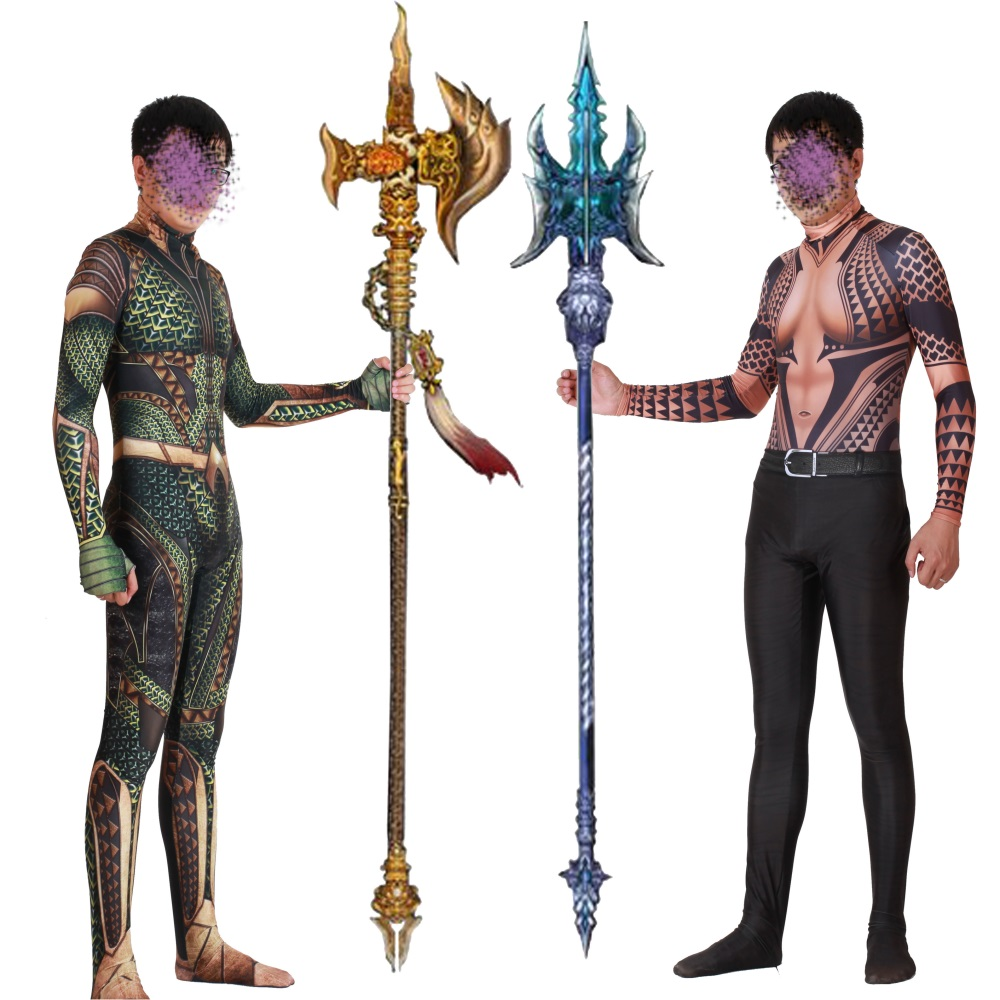 Aquaman Cosplay Costume Zentai Arthur Curry Orin Superhero Bodysuit Suit Jumpsuits