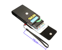 Vertical Horizontal Strap Belt Clip Dual Mobile Phone Leather Case Card Pouch For LG X Venture