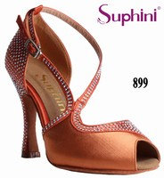FREE SHIPPING New Designed Orange Small Toe Dance Shoes Latin Salsa Dance Shoes Woman Dance Shoes