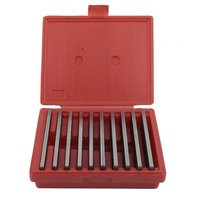 10 Pair Hardened Parallels Tools 6 Long 1/8 Wide And 1/2 To 1 5/8 Thicken Steel High Precision Parallels Bar Set