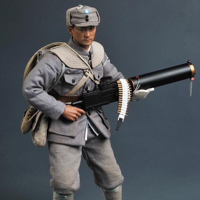 1/6 Anti Japanese War Eight Route Army Machine Gunner SS098 Action Figure Model велосипед wheeler route 1 6 2012