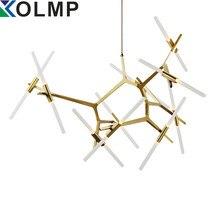 6 kol/10 arms İtalya Tasarım Avize Işık Modern Altın/Siyah Ağacı Şubesi Işık Oturma Odası Ağacı Şubesi avize Lampara