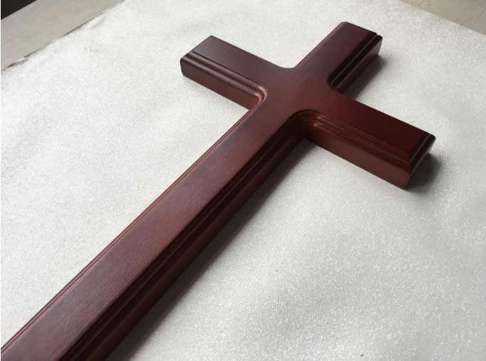 40 centímetros Presente Cristão Parede tapeçaria cruzes Natural Puro Elm Madeira Cruz Cristã