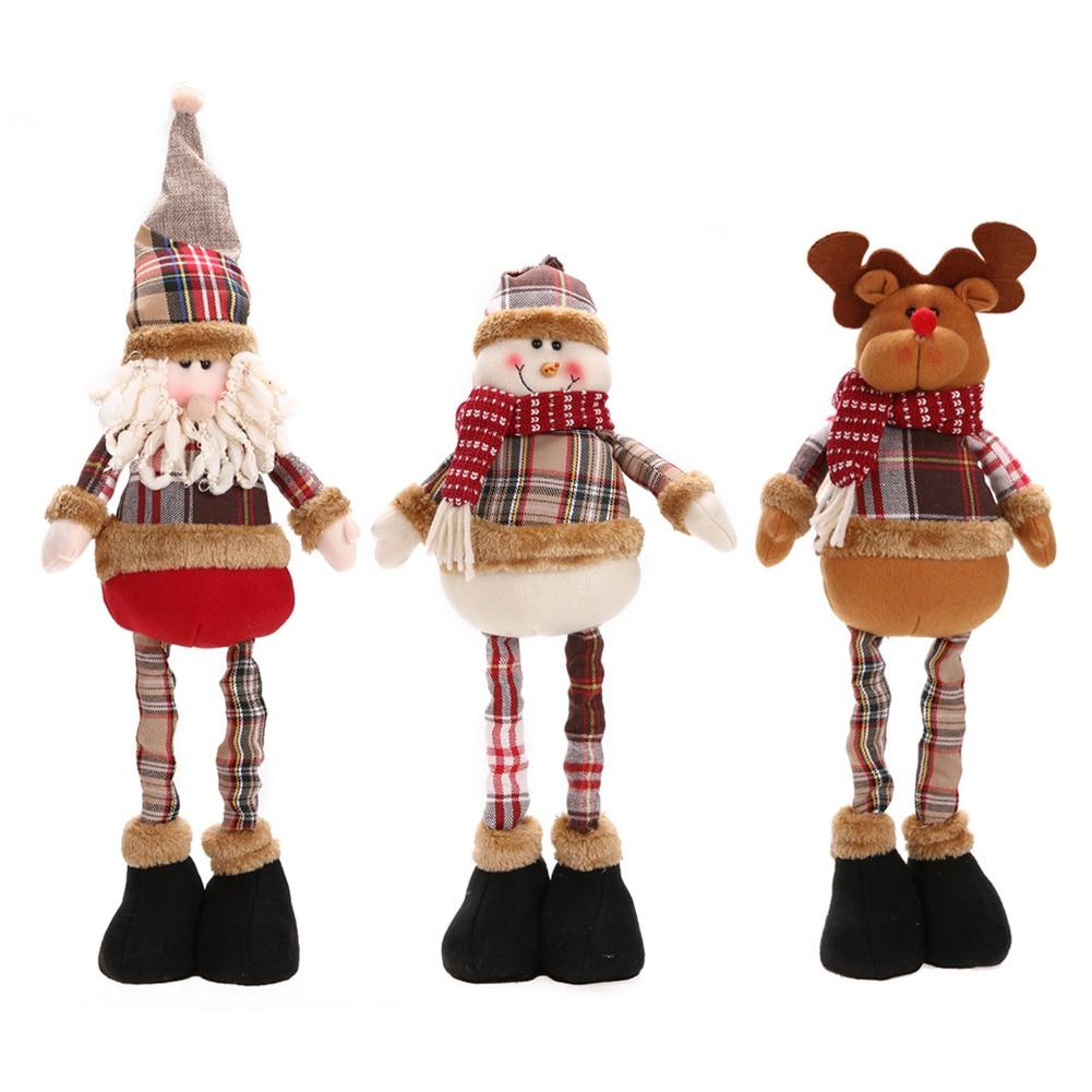 1 Unids Venta Caliente Papá Noel Muñeco de nieve Reno Muñeca Decoración de Navidad Árbol de Navidad Adornos Colgantes Colgante Mejor Regalo