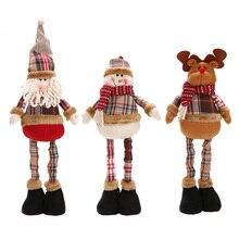 1 шт. Лидер продаж Санта Клаус Снеговик Оленей Кукла Новогоднее украшение Xmas дерево висячие украшения кулон лучший подарок