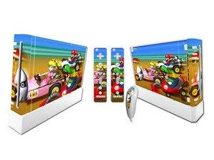 Image 3 - Mario dla Nintend konsola Wii Vinyl nalepka skórki pokrywy z 2 sztuk kontroler naklejka dla Wii Controle Gamepad Joypad Acessories