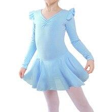 BAOHULU/балетные трико для девочек; детская Одежда для танцев; сезон осень-зима; платье с длинными рукавами; балетные трико; гимнастические костюмы