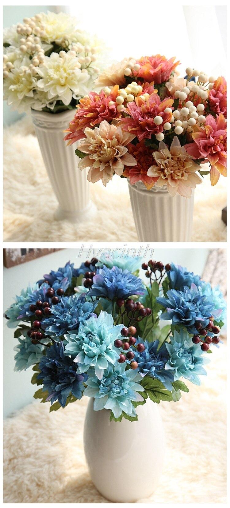 Vivid Dahlia Beam Simulation Took Silk Flower Wedding Supplies