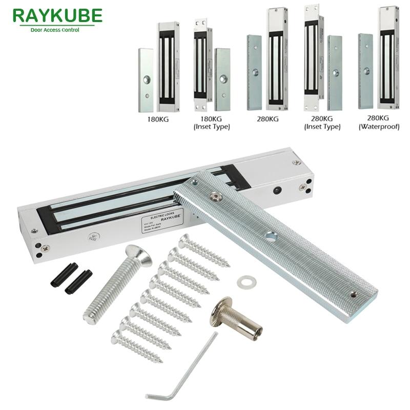 RAYKUBE Elektriskt magnetlås 180KG / 280KG Access Control System Kit - Säkerhet och skydd - Foto 2
