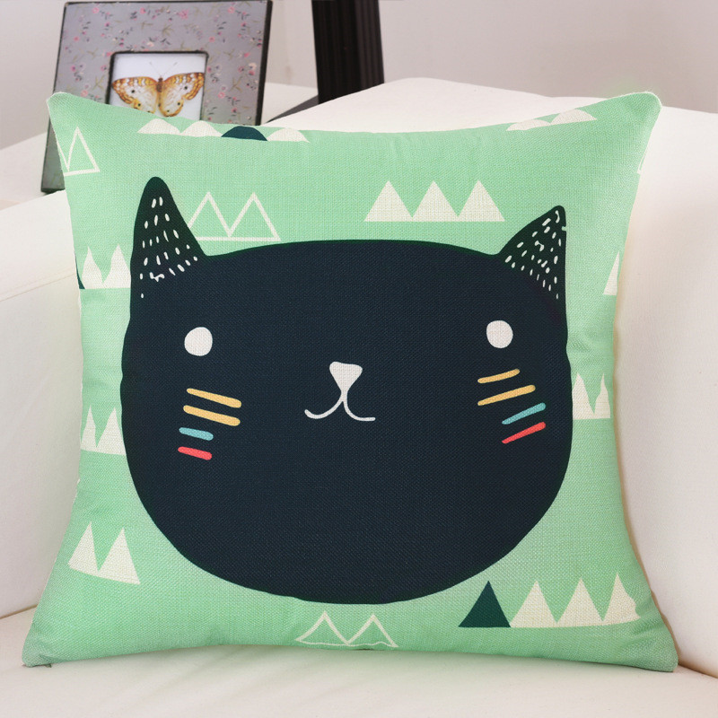 45*45cm Animal Cushion Cover Cat For Children Room Decorative Sofa Throw Pillow Car Chair Home Decor Pillowcase