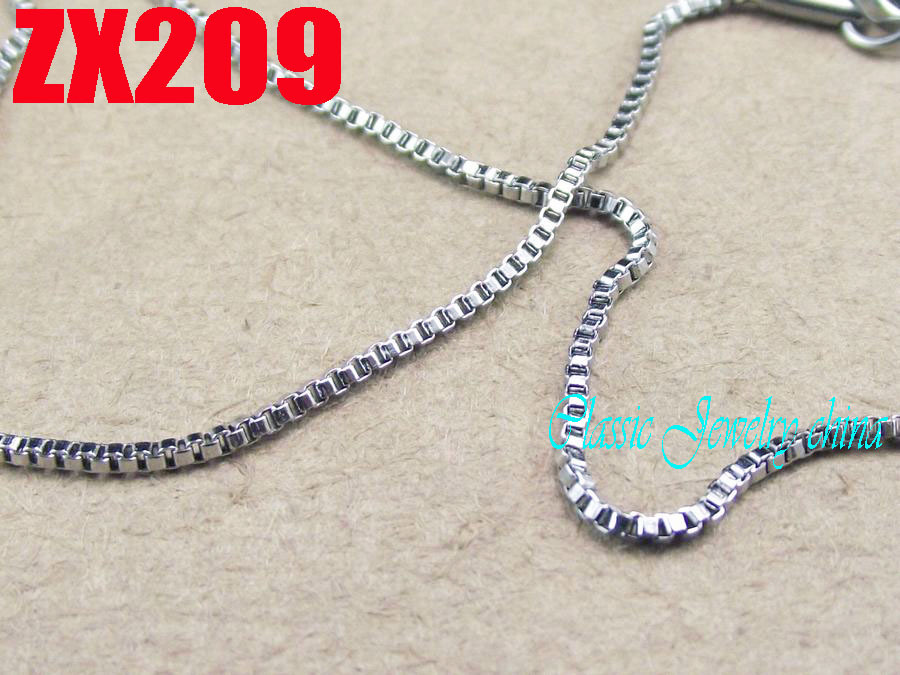 small necklace 100 meters 1.2mm  box chain stainless steel  chains women male fashion jewelry parts  ZX209