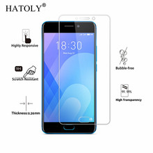 2PCS Screen Protector Glass For Meizu M6 Tempered Meilan 6 Phone Not Full Cover HATOLY