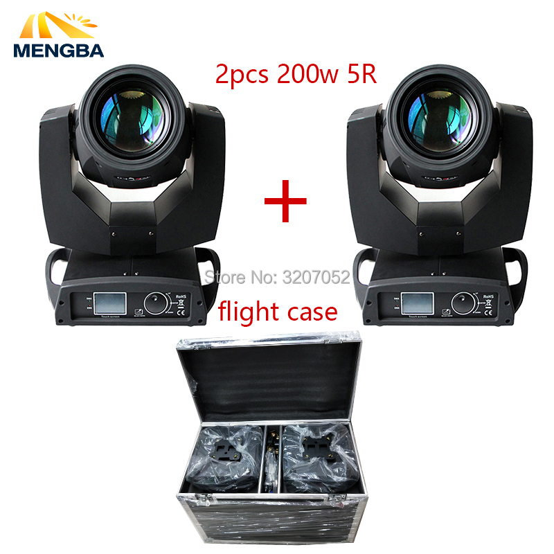 2pcs Touch Screen Beam 200w 5r Moving Head Light With Flight Case Package Sharpy Beam 200 Beam 5r for dj/party/wedding/stage 4 pcs lot 200w moving heads beam 5r sharpy beam moving head dmx stage light disco bar dj lighting