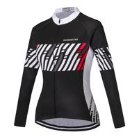 Cycling Jersey Women Bike Jersey Long Sleeve Female MTB Top Pro Team Ropa Ciclismo Maillot Riding Shirts Breathable Black