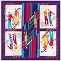 2016 mujeres de seda scarf130 * 130 cm womans super large100 % seda bufanda de marca moda plaid seda de la impresión chales bufandas wraps pashminas