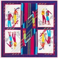 2016 mulheres de seda scarf130 * 130 cm womans super large100 % lenço de seda da marca moda xadrez impressão de seda xales cachecóis wraps pashminas