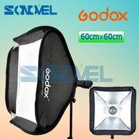 Godox Softbox 60cm * 60cm Diffuser Reflector / 24x24 60x60cm Softbox Bag Kit for Camera Studio Flash fit Bowens Elinchrom
