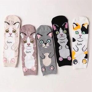 Милые женские носки с расческой для очаровательной домашней собаки, кошки, милые розовые носки для девочек Сиба, мини-свинья, носки с мультя...