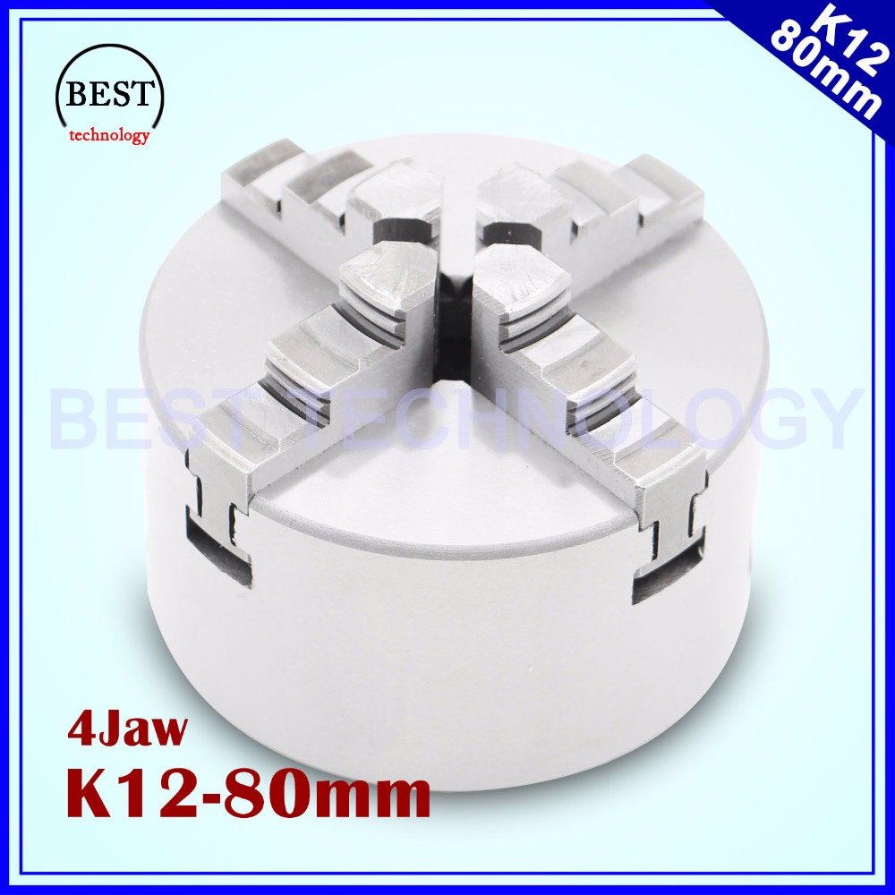 80mm 4 jaw Chuck self centering manual chuck four jaw for CNC Engraving Milling font b