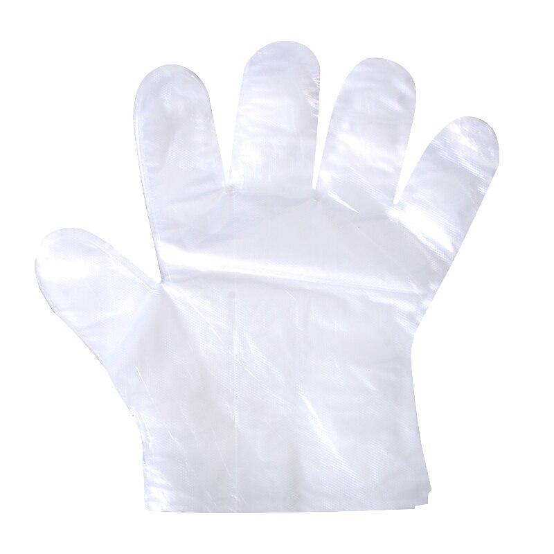 Household Gloves Transparent disposable gloves, kitchens, food grade bathing special plastic film gloves for food and beverage.