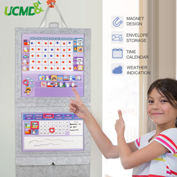 95pcs Magnetic Reward Activity Responsibility Chart Stickers School Educational Toy Message board for Kids Calendar Time Toys