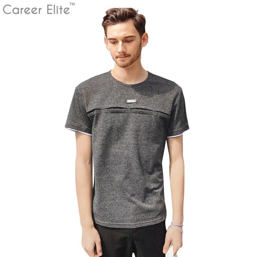 2018 Nouvelle Personnalité Conception Solide Couleur T Chemises Hommes T-shirt Homme T-shirt Streetwear Camisetas Coton T-shirt