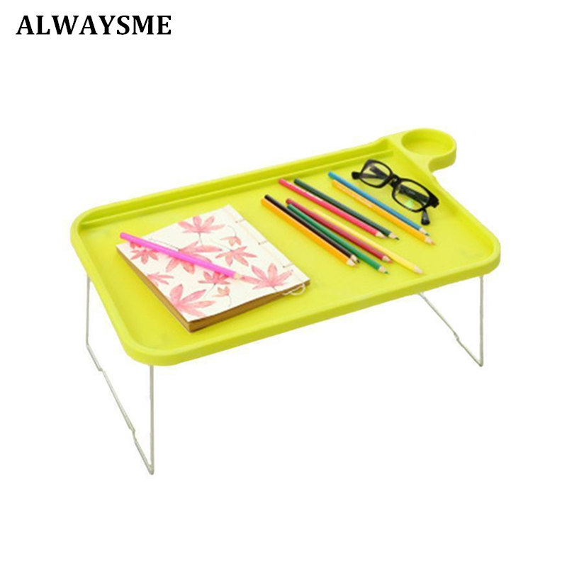 ALWAYSME Laptop Table Notebook Desk Floralby Sofa Bed Tray Table with Folding Legs Laptop Breakfast Bed Tray for Eating Studying
