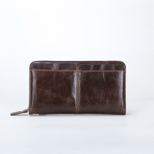 free shipping new fashion brand men's long wallet male clutches 100% genuine cowhide leather famous classic design in-kind shoot