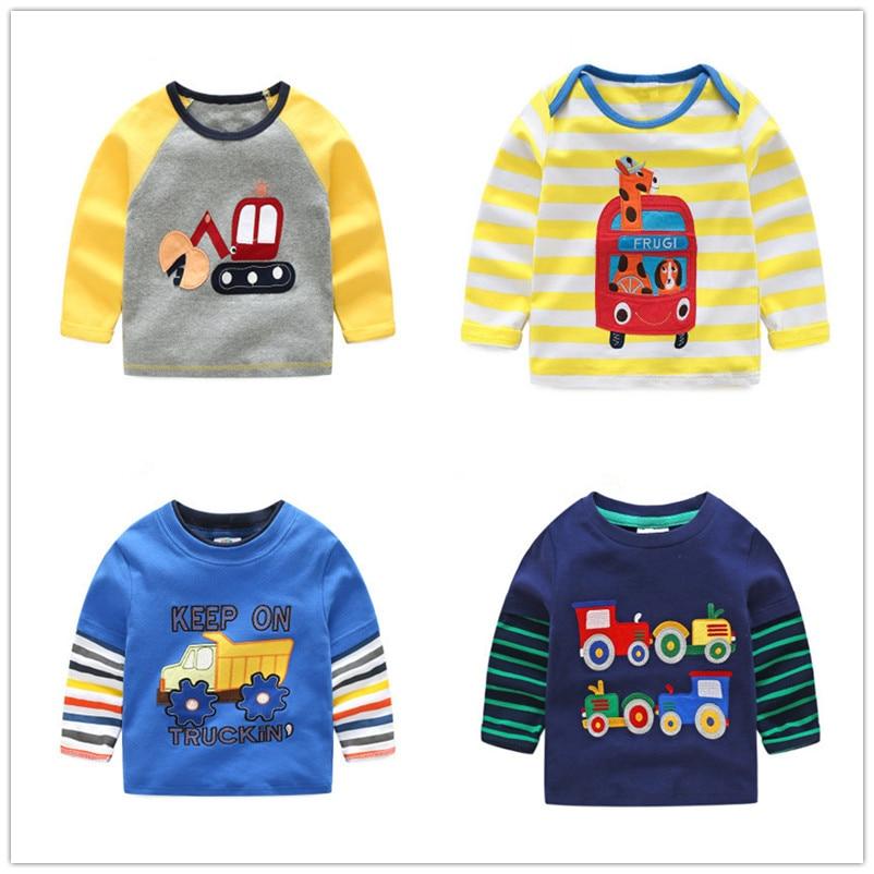 VIDMID الفتيان تي شيرت بأكمام طويلة للأطفال القمصان الخريف كارتون الاطفال قمصان للأولاد ملابس القطن ملابس الطفل الصبي تي شيرت