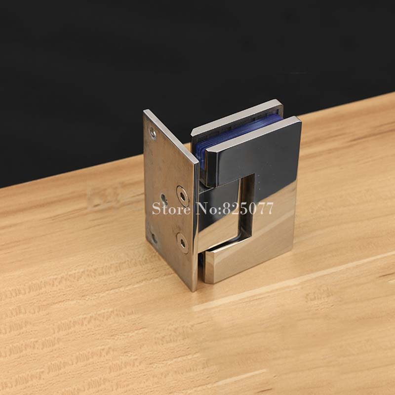 10 Years Warranty Wall To Glass Offset Square Geneva Cutout Frameless  Shower Door Hinge Polished Chrome HD18 In Door Hinges From Home Improvement  On ...