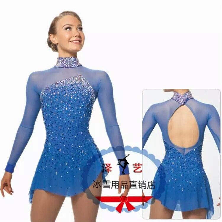Crystal Custom Figure Skating Dresses For Girls Graceful New Brand Ice Skating Dresses For Competition DR4325