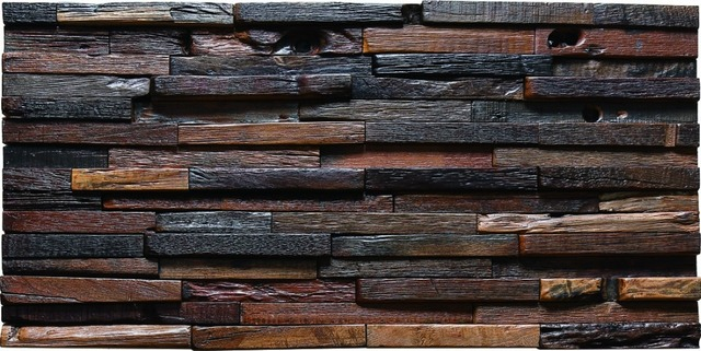 TST Aligned Wooden Panel Wall Tiles Deco 3D Background