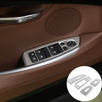 For BMW 5 Series GT F07 Inner Door Window Switch Button Cover Trim 2010 2017 4pcs